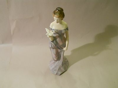 "Vintage Royal Doulton ""Harmony"" Figurine Elegant Woman With Dove England 1977"