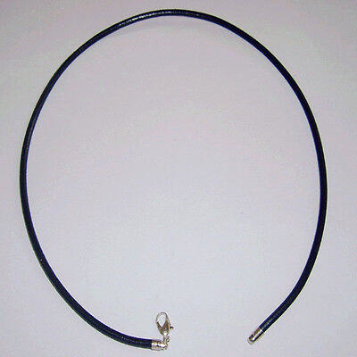 Black 3Mm Real Leather   Necklace Cord String With Lobster Clasp 12- 30 Inches