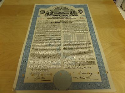Consolidated Edison Co of New York $1000 Mortgage Bond 1949