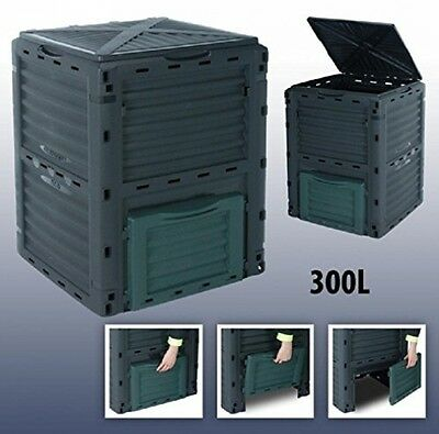 Large Garden Composter Bin Waste Box Durable Waterproof Recycling Eco Compost