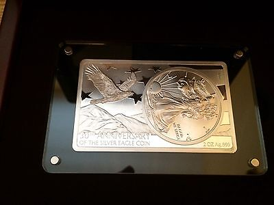 2016 30th Anniversary of the American Silver Eagle Coin and Bar Set with COA