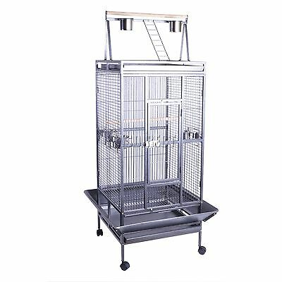 FoxHunter Large Metal Bird Cage Stand Aviary Parrot Budgie Canary Cockatiel 01
