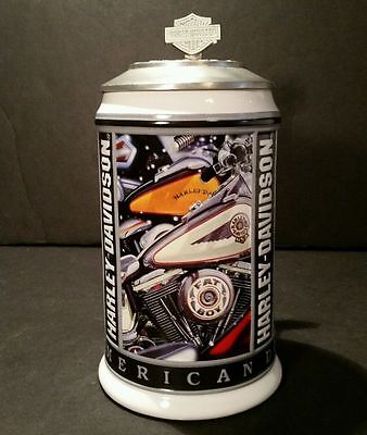 1998 Harley Davidson The American Dream by Scott Jacobs Ceramic Stein
