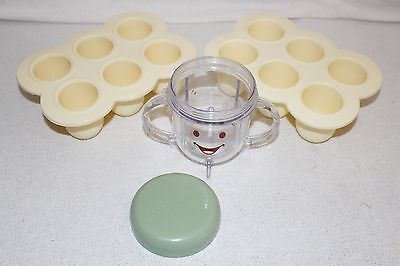 Baby Bullet Cup and Two 6 Cup Grid Freezer Trays