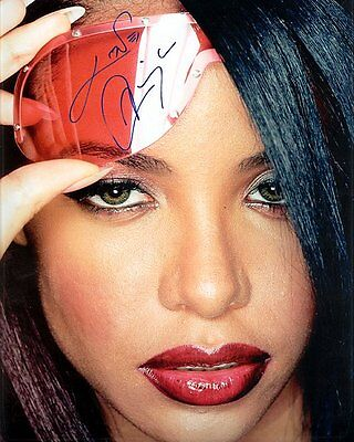 Aaliyah Autographed Preprint Signed Photo