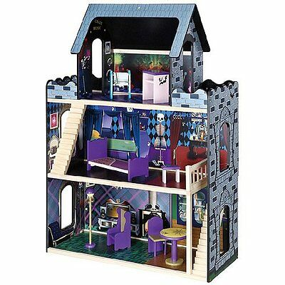 Monster High Mansion 3 Story Wooden Dollhouse w Furniture for Bratz Size Dolls