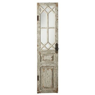Vintage Style Distressed Wood  Door/Mirror Wall Panel Shabby Chic Decor,67''H.