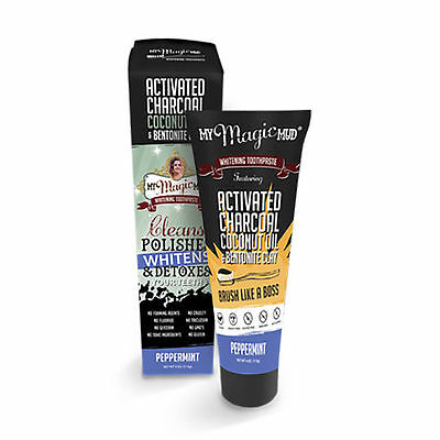 My Magic Mud® Whitening Toothpaste Peppermint (113g) Natural NEW Fluoride Free