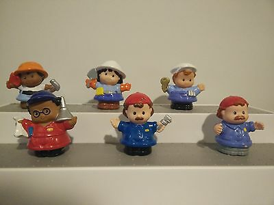 Modern Chunky Fisher Price Little People Construction Workers Tradesmen & Women