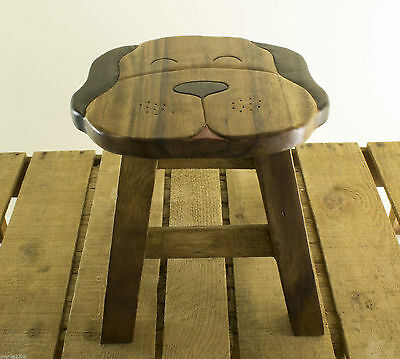 Dog Stool.Child's wooden Stool / Wooden Step - Hand Painted