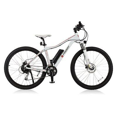 Smart Pedal - Assist 27 Speeds Electric Motor Mountain Bike White Used Open Box