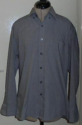 MEN'S SHIRT  Chemise homme Manches longues Gris HUGO BOSS Taille L neuf