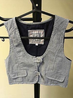 J Jeans Girls Waistcoat Striped Casual Cotton Age 10 Years (05)