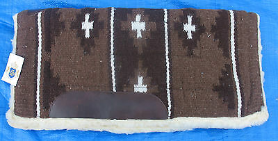 "Woven Wool Navajo Style Saddle Pad 30"" X 30"" Brown"