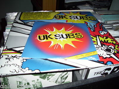 """UK SUBS yellow leader lp tri colour vinyl collectors pack + 7"""" sealed sold out"""