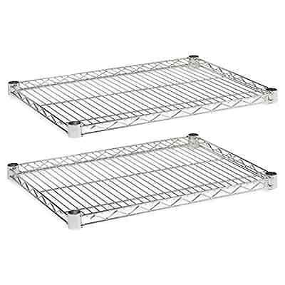 Alera Industrial Wire Shelving Extra Wire Shelves, 24 by 18-Inch, Silver