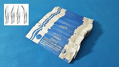 Lot Of 100 Pcs Carbon Steel Sterile Surgical Scalpel Blades #10 #10A #11 #12