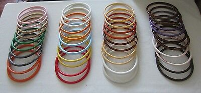 "20 Pair Assorted 7"" Round Plastic Macrame Rings Craft Supply Purse Handles DIY"