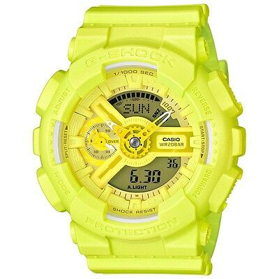 Gmas-110Vc-9A Yellow Casio G Shock X Bright Vivid Color S Series  Gma-S110Vc-9A