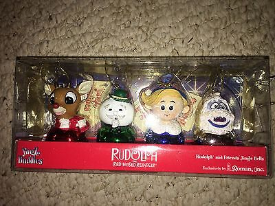 Jingle Buddies - Rudolph the Red Nosed Reindeer - Set of 4 - Brand New