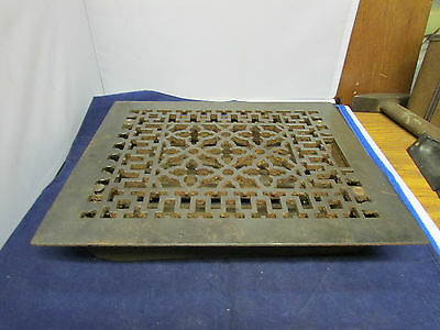 Vintage Cast Iron Heater Floor Vent  Has Nice Design