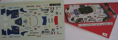 COURAGE C36 n° 10 LE MANS 1997  DECAL PROV.MOULAGE 1/43e