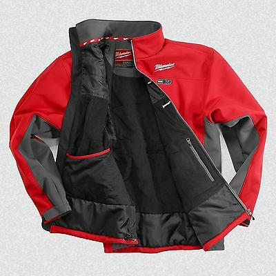 NEW Milwaukee 2390-2X M12 Cordless Red Heated Jacket Only -2X