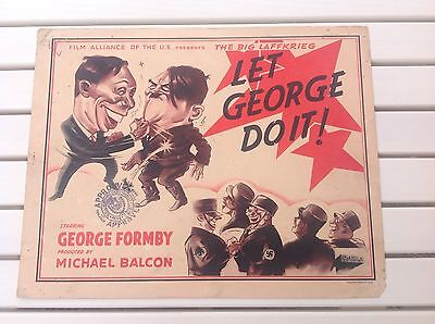 George Formby Let George Do It 8 Original Vintage Theatrical Movie Lobby Cards