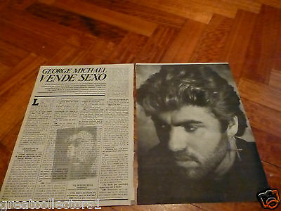 George Michael Rare In Spanish ...  Page Clipping