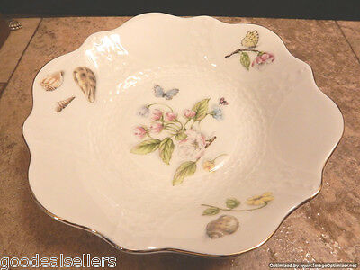 "AYNSLEY Bone China Nature's Delight Bowl 8-1/8"" x 1.5"" Tall Handmade in England"