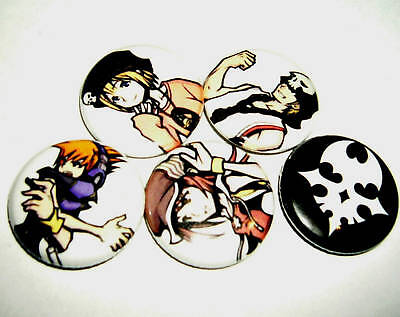 TWEWY - The World Ends With You - 12  Pins/Buttons!