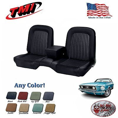 1968 Ford Mustang Black Front/Rear Bench Seat Upholstery - Any Color - USA Made!