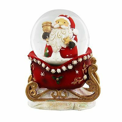 Resin Christmas Snow Globe Waterball - Santa in Sleigh