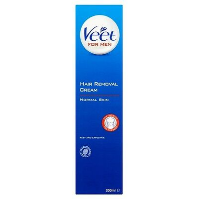 Veet for Men Hair Removal Gel Cream 200ml NEW **SUPER FAST & FREE DELIVERY**