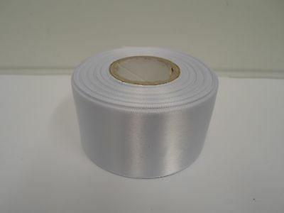 3mm 7mm 10mm 15mm 25mm 38mm 50mm WHITE Satin Ribbon double sided roll UK