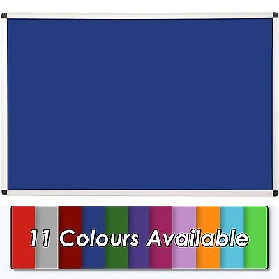 Premium Felt Noticeboard - Aluminium Frame - 900 x 600mm with Fixings -11 colous