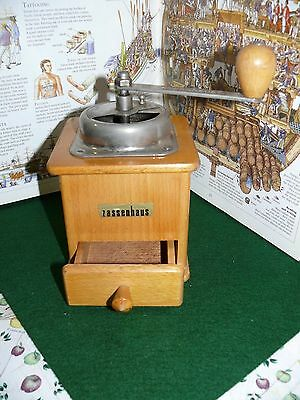 Vintage Wood & Metal Zassenhaus Coffee Grinder MADE IN GERMANY