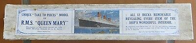 QUEEN MARY (Cunard White Star) VERY RARE TAKE TO PIECES MODEL