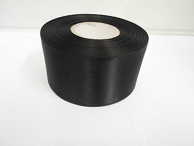 3mm 7mm 10mm 15mm 25mm 38mm 50mm BLACK Satin Ribbon double sided roll Bows