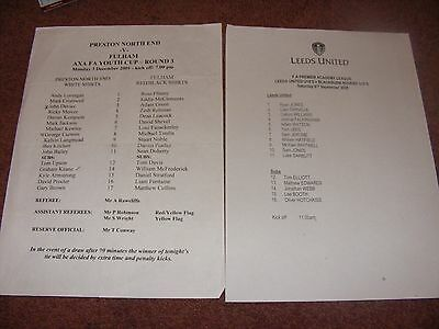 2001 Preston v Fulham FA youth cup