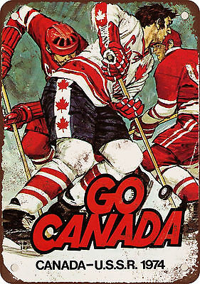 1974 Canada vs. USSR Hockey Vintage Look Reproduction Metal Sign