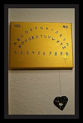 Handpainted Ouija Board For Spirit Communication Or Decoration