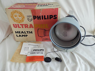 Vintage Philips Ultraphil KL2866 Infrared Health Lamp Light Boxed & Instructions