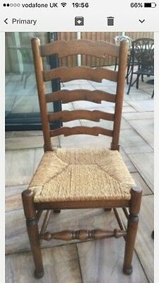 Solid Oak Ladder Back Chairs