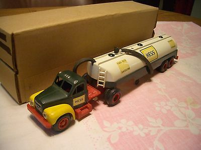 1963-64 B-Mack White Hess Tanker Truck, Super Rare,  First In Series, Ex+, Wow!