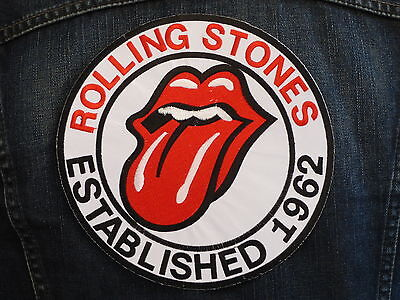 GRAND ECUSSON PATCH THERMOCOLLANT / ROLLING STONES rock mods 60's groupe musique