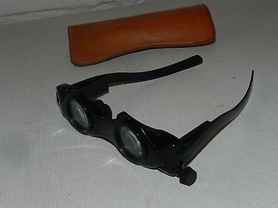 Vtg Hands Free Binoculars Glasses Goggles Adjustable W/ Case Steampunk