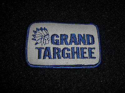 GRAND TARGHEE ALTA WY. SKI RESORT Patch Vintage 1980's