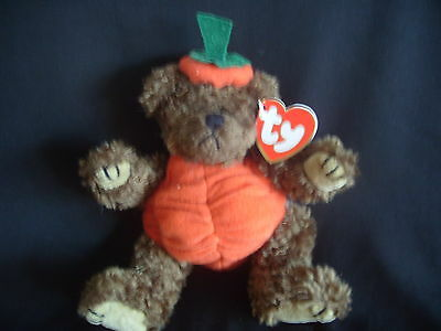Ty Beanies - Attic Treasures Peter The Pumkin Bear With Tags