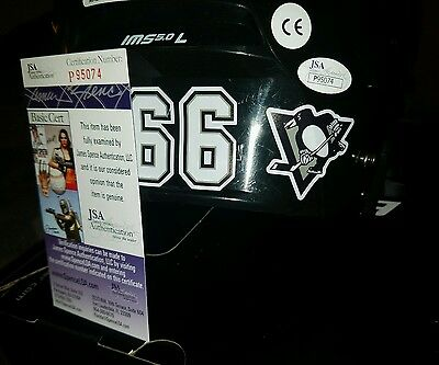 Mario Lemieux  Signed (Bauer)  Full Size Helmet Size LG in person. JSA CERTIFIED